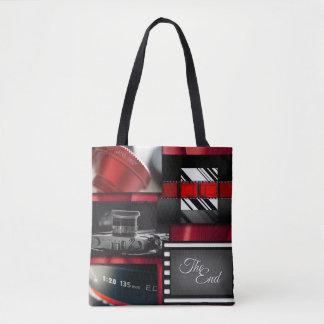 Bolsa Tote Colagem preta & branca vermelha do filme