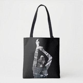 Bolsa Tote Colagem preto e branco com menina de dança
