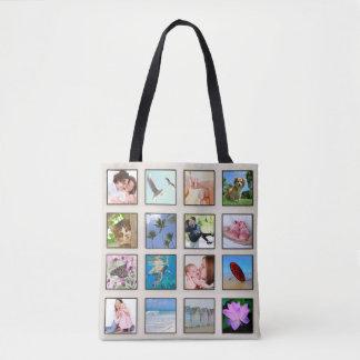Bolsa Tote Colagem quadrada clássica da foto do quadro