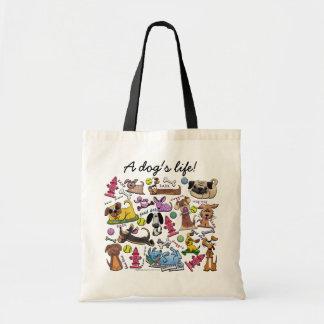 Bolsa Tote Colagem temático do cão