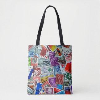 Bolsa Tote coleção de selo postal