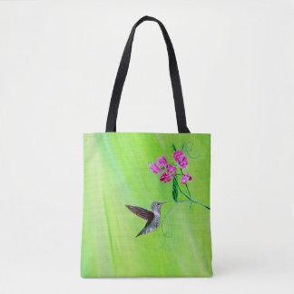 Bolsa Tote Colibri & ervilhas doces