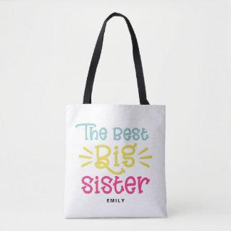 Bolsa Tote Colorido a mão bonito da melhor irmã mais velha