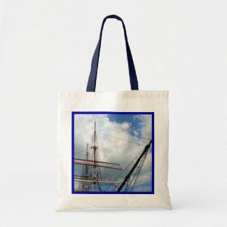 Bolsa Tote Com o equipamento com beira azul