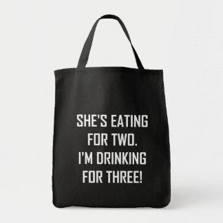 Bolsa Tote Comer para dois que bebem para três
