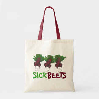 Bolsa Tote Comida doente do Vegan do vegetariano da beterraba