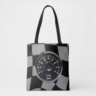 Bolsa Tote Competência análoga do tacômetro do vintage auto