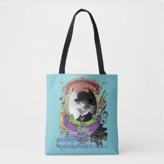 Bolsa Tote Compositor animal Satie do gato bonito engraçado