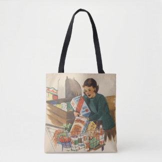 Bolsa Tote compra da mamã dos anos 50