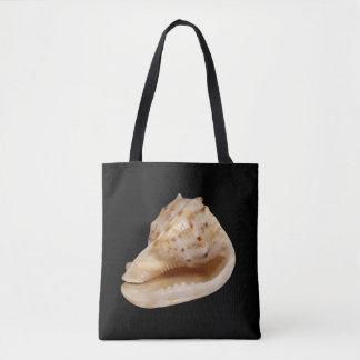 Bolsa Tote Conch Shell por todo o lado na sacola do impressão