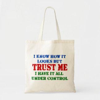 Bolsa Tote Confie-me - tudo sob o controle