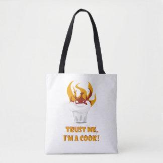 Bolsa Tote Confie que eu mim é um cozinheiro!