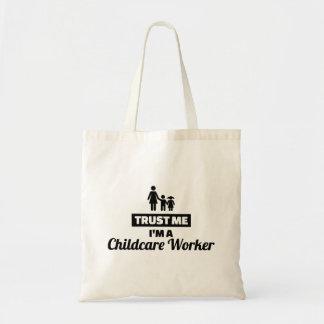 Bolsa Tote Confie que eu mim é um trabalhador da puericultura