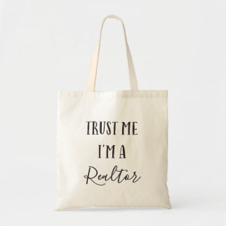 Bolsa Tote Confie que eu mim é uma sacola do corretor de