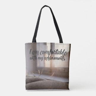 Bolsa Tote Confortável com minhas realizações