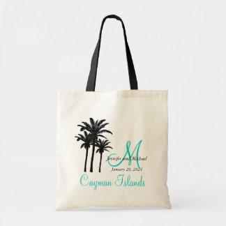 Bolsa Tote Convidado personalizado da praia do casamento do