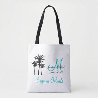 Bolsa Tote Convidado personalizado do casamento de praia do