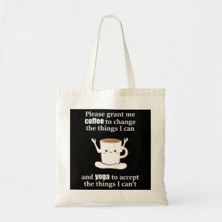 Bolsa Tote Copo de café bonito que faz a ioga