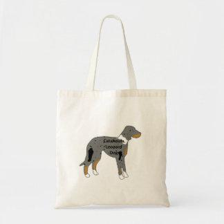 Bolsa Tote cor do silo do nome do cão do leopardo do