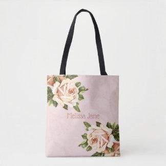 Bolsa Tote Cora a dama de honra cor-de-rosa do vintage