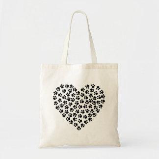 Bolsa Tote Coração de Pawprint