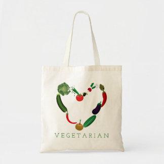 Bolsa Tote Coração do vegetariano