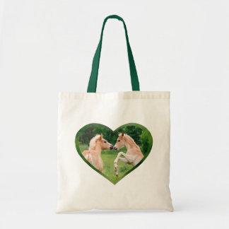 Bolsa Tote Coração engraçado bonito dos amigos dos potros dos