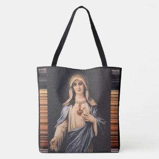 Bolsa Tote Coração imaculado da mãe dolorosa de Mary