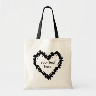 Bolsa Tote Coração selvagem preto