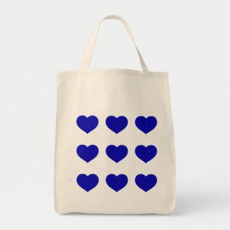 Bolsa Tote Corações azuis