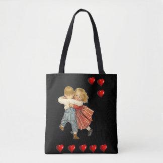Bolsa Tote Corações do amor do dia dos namorados da sacola