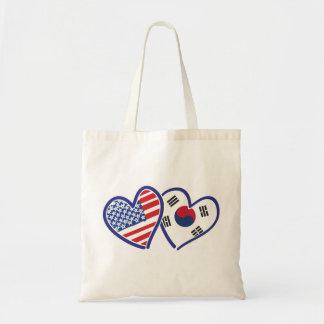Bolsa Tote Corações do amor dos EUA Coreia do Sul