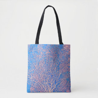 Bolsa Tote Coral abstrato do fã
