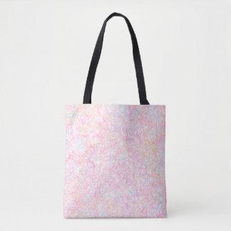 Bolsa Tote Cordas modernas coloridas - Pastel da pérola