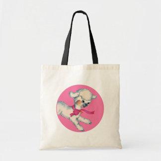 Bolsa Tote Cordeiro macio no rosa