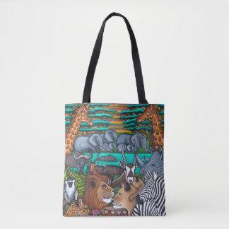Bolsa Tote Cores do saco de África por Lisa Lorenz
