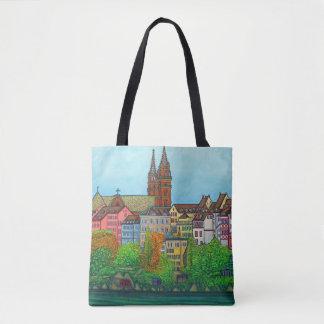 Bolsa Tote Cores do saco de Basileia por Lisa Lorenz
