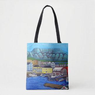 Bolsa Tote Cores do saco de Cape Town por Lisa Lorenz