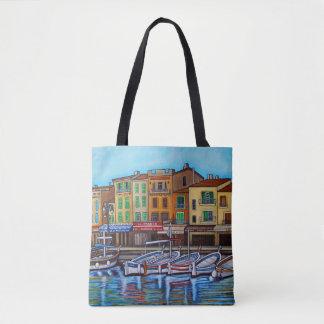 Bolsa Tote Cores do saco de Cassis por Lisa Lorenz