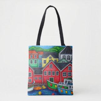 Bolsa Tote Cores do saco de Lunenburg por Lisa Lorenz