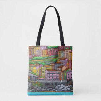 Bolsa Tote Cores do saco de Manarola por Lisa Lorenz