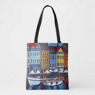 Bolsa Tote Cores do saco de Nyhavn por Lisa Lorenz