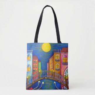 Bolsa Tote Cores do saco de Veneza por Lisa Lorenz