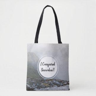 Bolsa Tote Córrego e data conquistados da montanha de Snowdon
