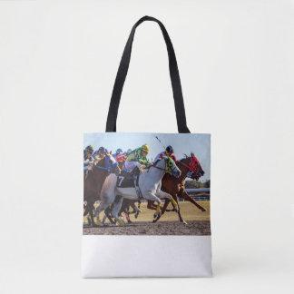 Bolsa Tote Corrida de cavalos