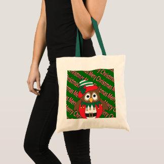 Bolsa Tote Coruja do Feliz Natal
