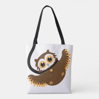 Bolsa Tote Coruja inteligente bonito do animal de estimação