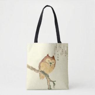 Bolsa Tote Coruja japonesa do impressão | das belas artes do