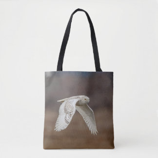 Bolsa Tote Coruja nevado em vôo