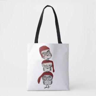 Bolsa Tote Corujas do Natal